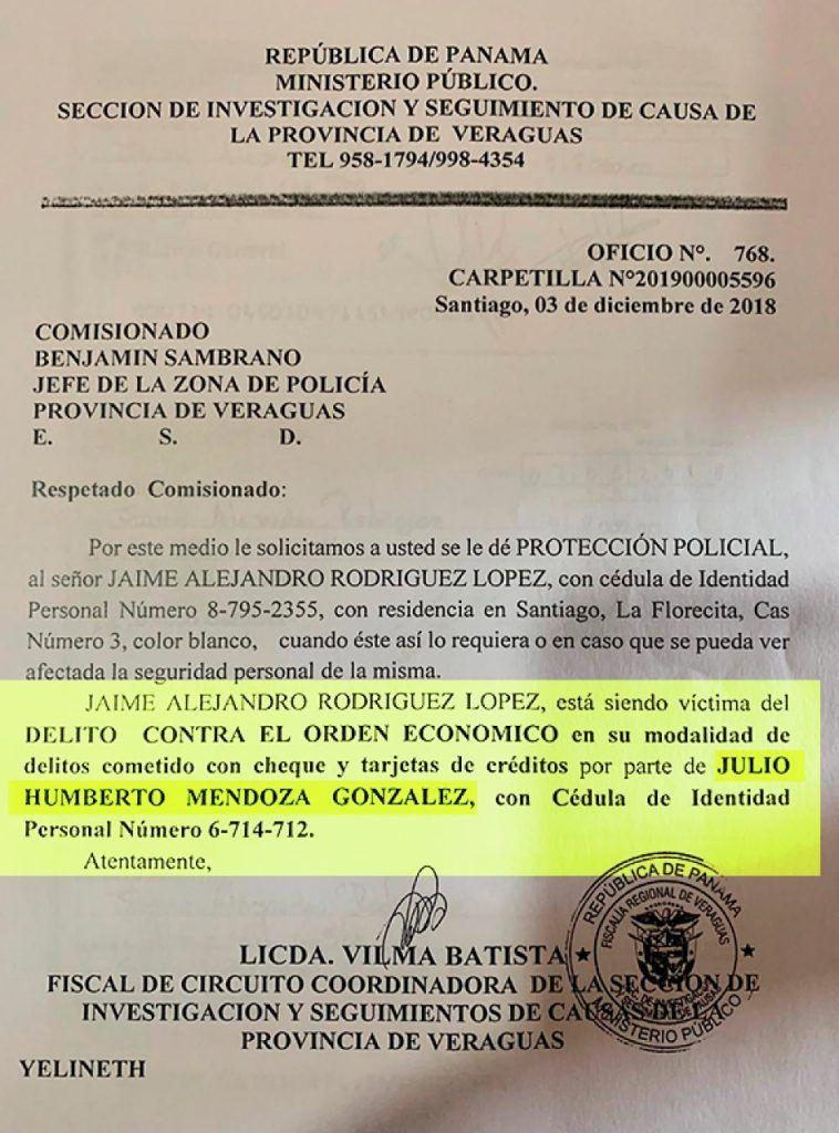 Perredista Julio Mendoza es investigado